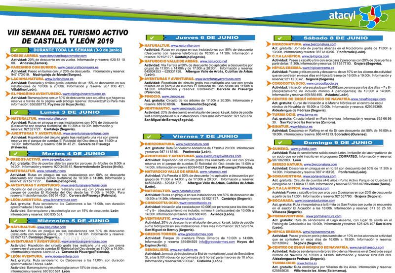 Programa VIII Semana Turismo Activo Castilla y León