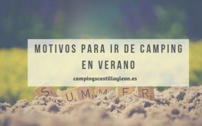 Motivos para ir de camping en verano