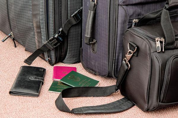documentación en el equipaje